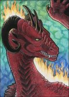 Dragarta ACEO by LhuneArt