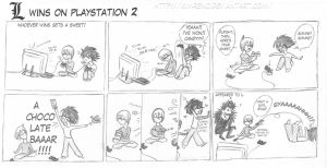L wins on PlayStation 2 by KimReno