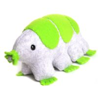 Gray and green tardigrade by WeirdBugLady