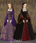 Mary and Elizabeth Tudor by BellatrixStar88