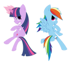 Twilight and Rainbow Dash by AireDaleDogz