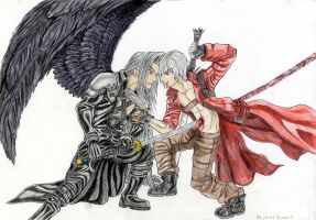 Dante VS Sephiroth by Jamiroth