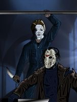 Michael Myers vs. Jason by MDVillarreal