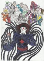Mr Sinister and henchmen by devilkais