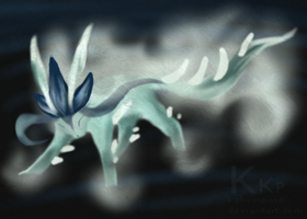 Glaceon's legendary form by Kahvinporo