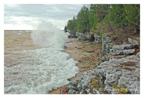 Autumn Waves Lake Michigan by tditzgb