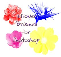 Flower Brushes by Chill-morte