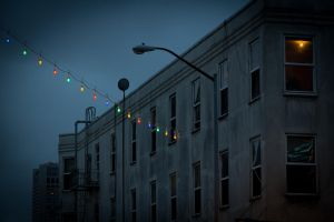 colored string lights by crag137