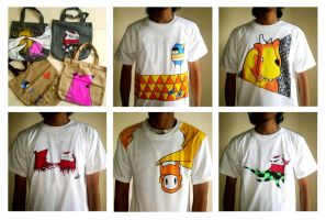 t-shirt + bag project by bebelikeart
