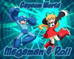 Megaman And Roll Rocksssss by foxmulder666