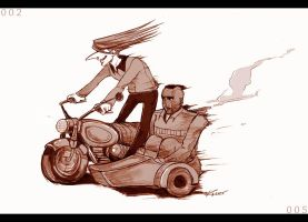 Cyborg 002 and 005 on a ride by karrey