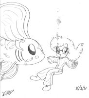 Megan meets a Kim-Suy fish :3 by The-Victor-Catbox
