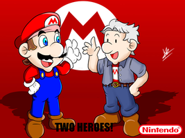 MARIO and CHARLES-THE BODY AND THE VOICE TOGETHER by kaiserkleylson