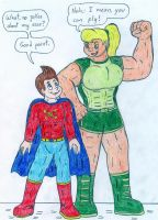 Supers and Hulks - Jimmy and Cindy by Jose-Ramiro