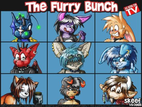 The Furry Bunch by skifi