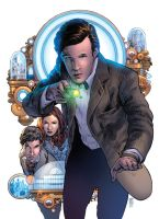Doctor Who Vol 3 Issue 1 Cover by CharlieKirchoff