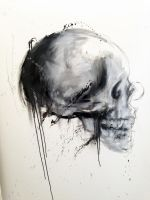 Skull Study # OIl  #5 by justcallmemike