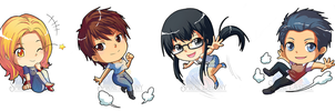 Commission : Spiral Destiny Chibi Characters by DomDozz