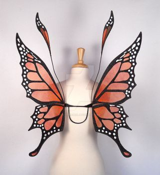 Crystal Monarch Butterfly Fairy Wings by glittrrgrrl