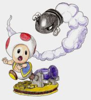 Toad and Bullet Bill by chibi22