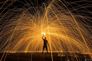 Steel Wool Drill Spin by jmadphoto