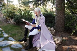 Reading by the tree by Sendershiseiten