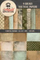 9 Grungy Nautical Papers by Whimsical-Adventure