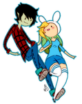 Marshall Lee and Fionna by Mittenzz