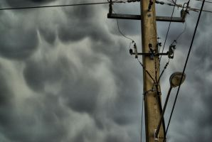 Telephone Pole HDR by Dustinpg