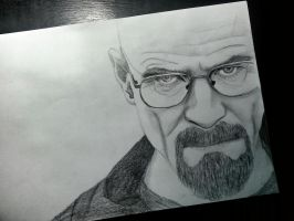 Walter White (Bryan Cranston) Drawing by mustafaydin