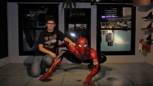 Spiderman and myself (Madame tussauds) by Albme94