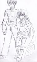 Hit girl and sexyboy by orochivan