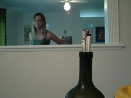 ally, with wine bottle by vagrantsamm