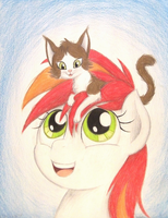 CATASAHAT (Birthday Gift for SnowKitteh223) by TheFriendlyElephant