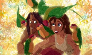 Tarzan and Jane by AdrianeSM