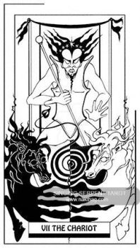 The Chariot - Singing Serpent Tarot by NAKT-HAG