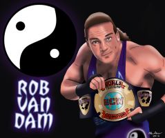 WWE/ECW Superstar Rob Van Dam Drawing by AllenThomasArtist
