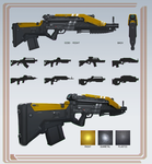 Assault Rifle concepts by TDSpiral