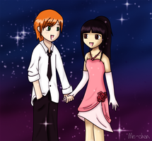 George Weasley and Dilley by me-chan