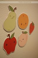 fresh fruit magnets by resubee