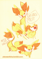 Fennekin doodle sheet by Chebits