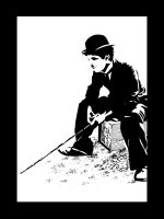 Charlie Chaplin - Silhouette by inspired-imaging