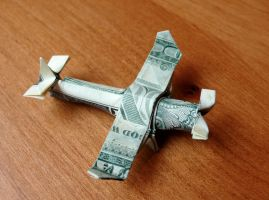Dollar Origami Crop Duster by craigfoldsfives