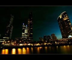 Melbourne riverside by madonk