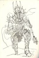Sauron sketch by witchking08