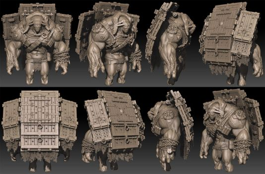Brick Zbrush Bpr render by ced66