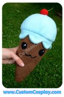 Blue ice cream cone plushie by The-Cute-Storm