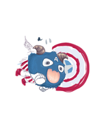 Poro Captain America by Cllaud