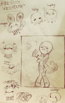 Gaster Bug Sketches by DerpStickers