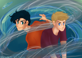 Percy and Jason by solarseptum